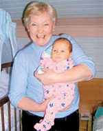 Екатерина Германовна с внуком Гошей